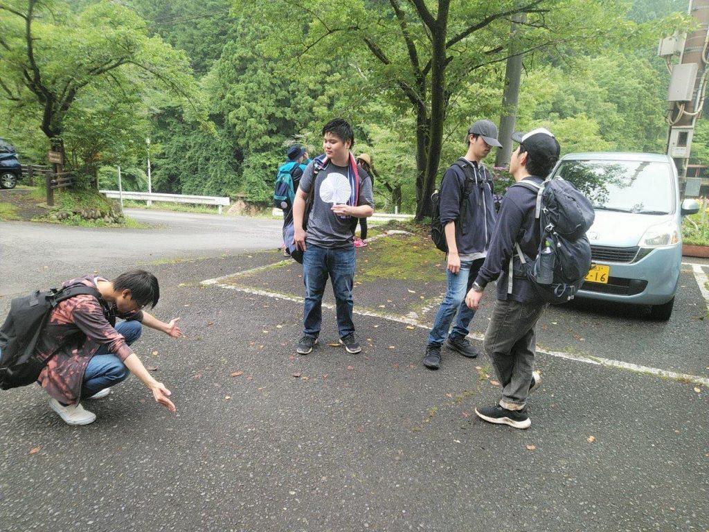 鎌北湖で休憩