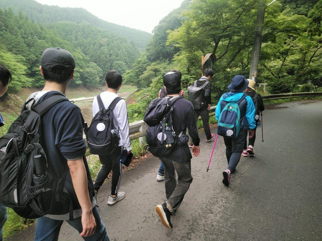 鎌北湖を出発